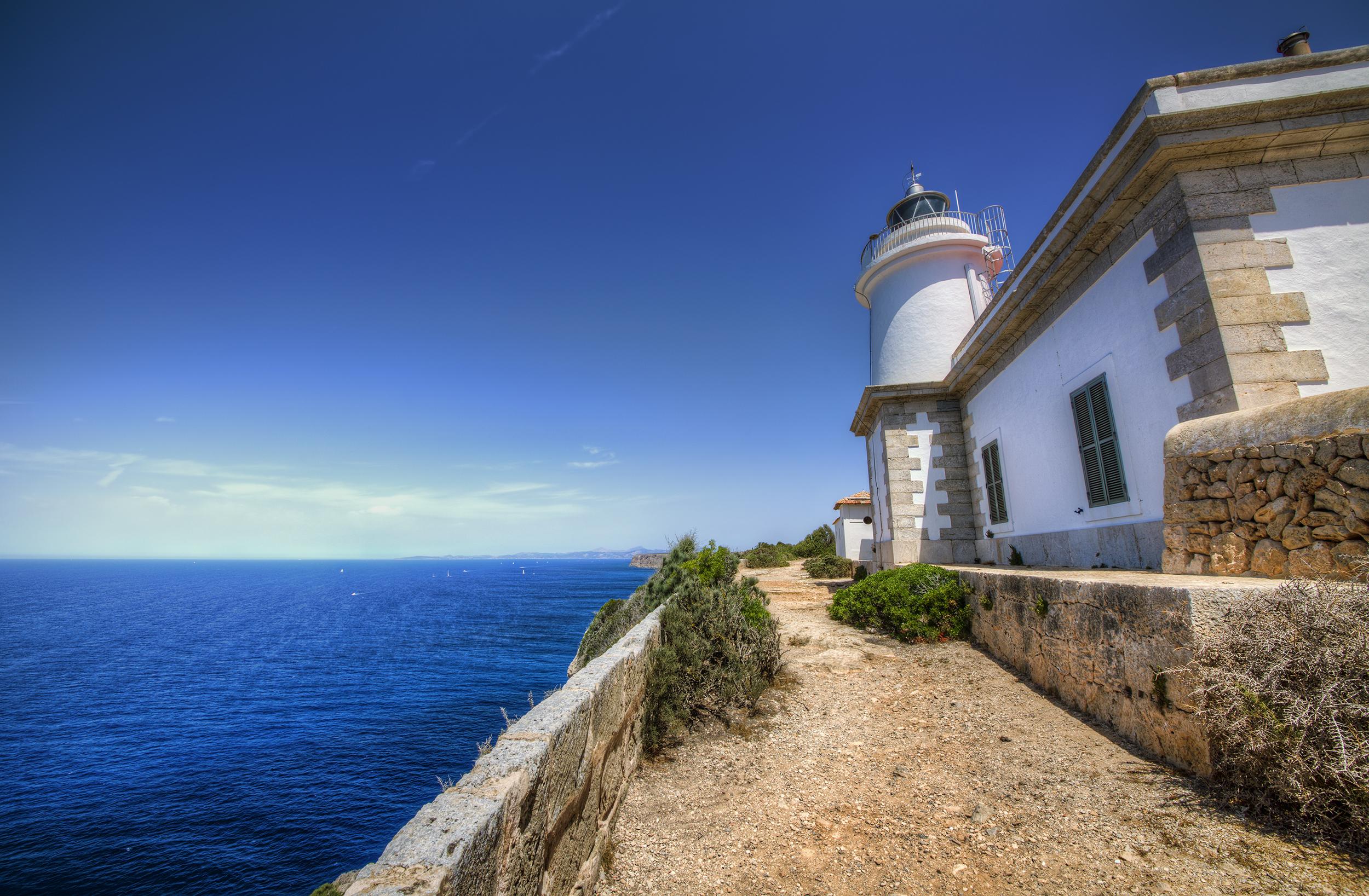Cap Blanc lighthouse. Mallorca