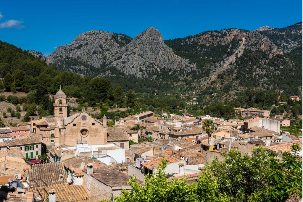 The village of Bunyola Mallorca